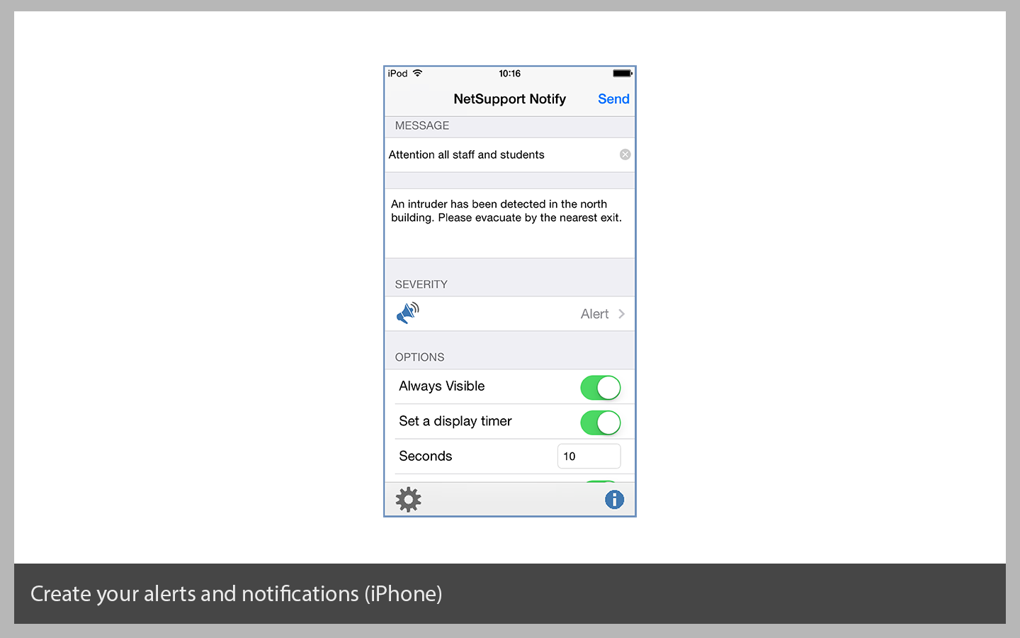 Create alerts (on an iPhone)