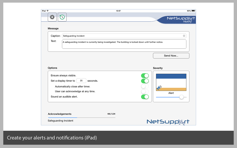 Create alerts (using an iPad)